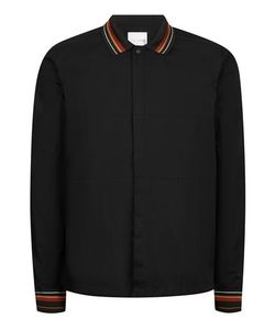 Topman | Premium Ribbed Collar Overshirt