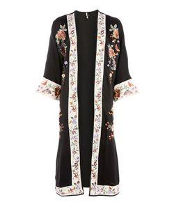 TopShop | Longline Embroidered Kimono