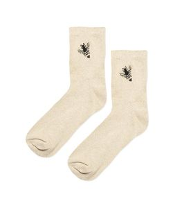 TopShop | Embroidered Glitter Bee Ankle Socks