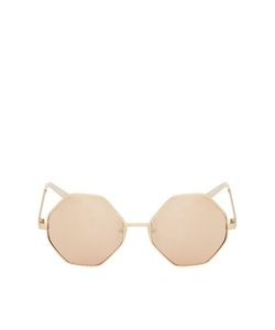 TopShop | Metal Hexagon Sunglasses Rose