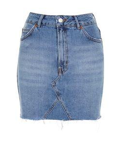 TopShop | Tall High Waisted Denim Skirt