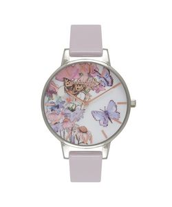 TopShop | Painterly Prints Lilac Watch By Olivia Burton