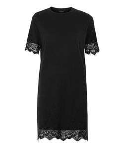 TopShop | Petite Lace Petal Shift Dress