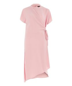 TopShop | Slash Neck Wrap Midi Dress