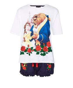 TopShop | Embroidered Rose Beauty And Beast Pyjama Set