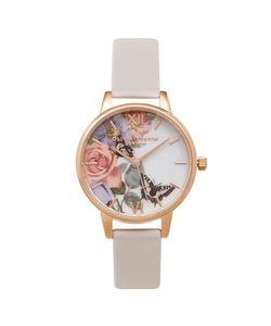 TopShop | Enchanted Garden Blush Watch By Olivia Burton Blush