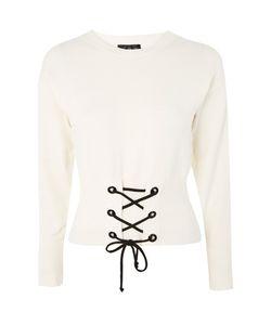TopShop   Corset Detail Knitted Sweatshirt