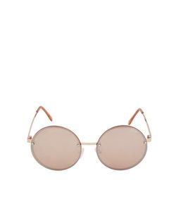 TopShop | Dome Lens Round Sunglasses Rose