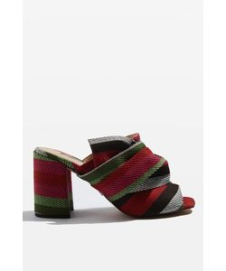 TopShop   Rome Fabric Knot Mules