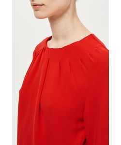 TopShop | Ruched Peplum Top By Boutique