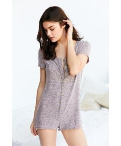 Urban Outfitters   Button-Down Knitted Playsuit