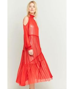 Pins & Needles | Sheer Ruffle Maxi Dress