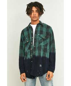 U.S. Alteration | Bleach Dyed Flannel Shirt