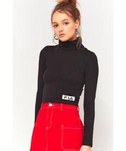FILA | Tiki Cropped Roll Neck Long Sleeve Shirt