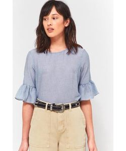 Cooperative by Urban Outfitters | Striped Ruffle Sleeve Shirt