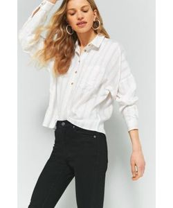 Cooperative by Urban Outfitters | Double Stripe Half Button Shirt