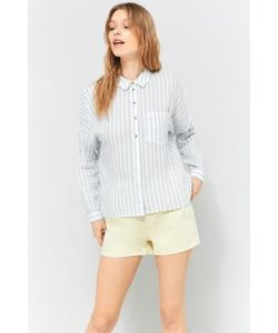 Cooperative by Urban Outfitters | Striped Twill Button-Down Shirt