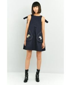 Angel Chen | Embroidered Denim Dress