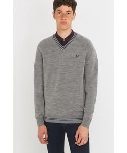 Fred Perry | Twin Tipped Steel Merino V-Neck Jumper