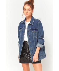 BDG | Western Medium Wash Long Denim Jacket