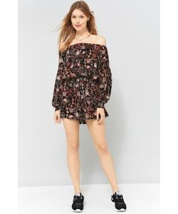 Free People | Pretty And Free Off-The-Shoulder Playsuit