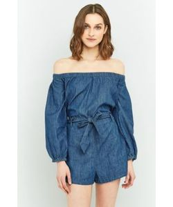 Free People | Tangled In Willows Off-The-Shoulder Playsuit