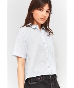 Cooperative by Urban Outfitters | Striped 80s Cropped Button-Down Shirt