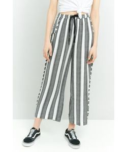 Staring at Stars | Striped Frayed Wide Leg Trousers