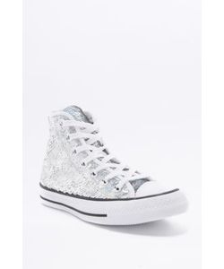 Converse | All Star Chuck Taylor Sequin High-Top Trainers