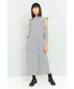 Rodebjer | Girinia Grid Jersey Maxi Dress