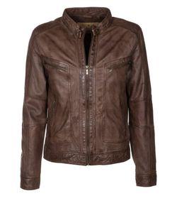 Goosecraft   Leather Jacket Hazelnut