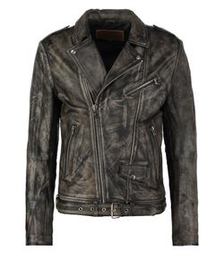 Goosecraft | Perfecto Leather Jacket Sheep Cracker Black