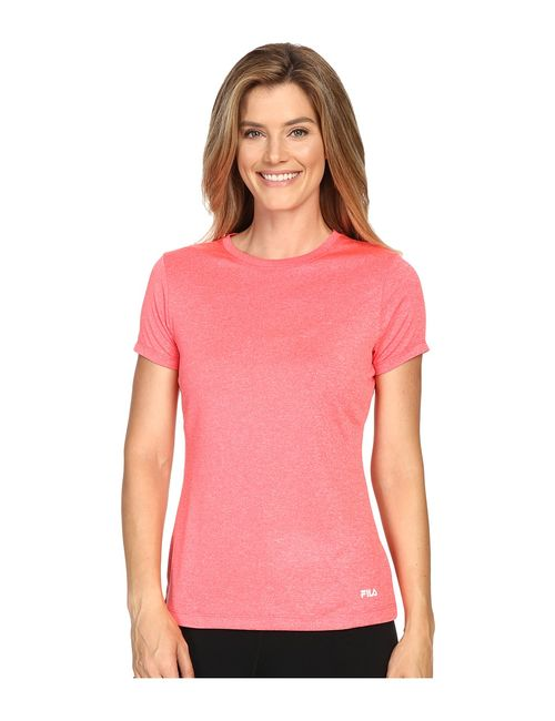 FILA | Pink Heather Crew Neck Tee Coral Cake Heather