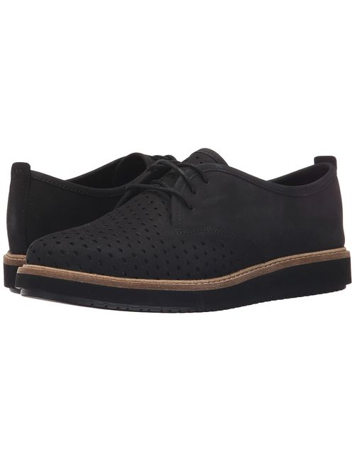 Clarks | Black Glick Resseta Nubuck Womens Lace Up Casual