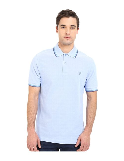 Fred Perry | Dark Blue Twin Tipped Polo Light Smoke Oxford/Soft