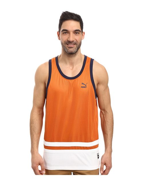 Puma | Men's Orange Basketball Jersey Burnt Mens Clothing