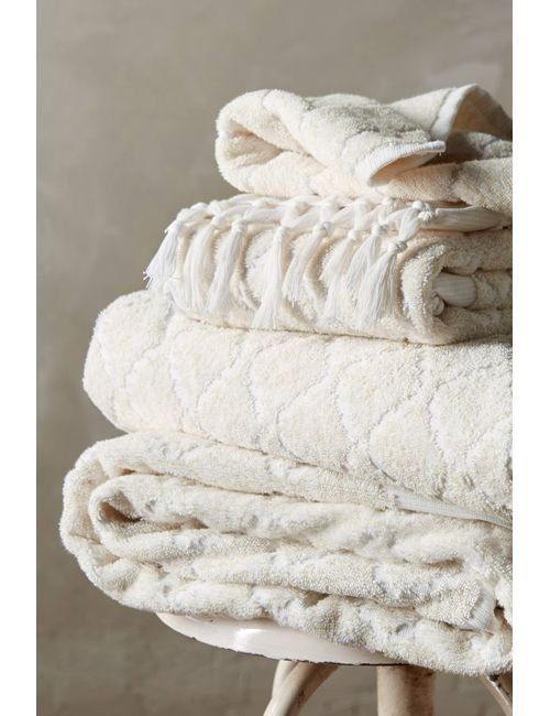 Anthropologie | Ivory Atessa Towel Collection