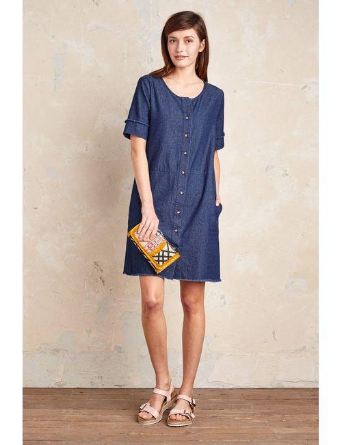 Loup   Women's Tinted Denim Leslie Denim Shirtdress Blue