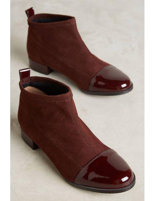 KMB | Women's Wine Kellen Patent-Toe Boots