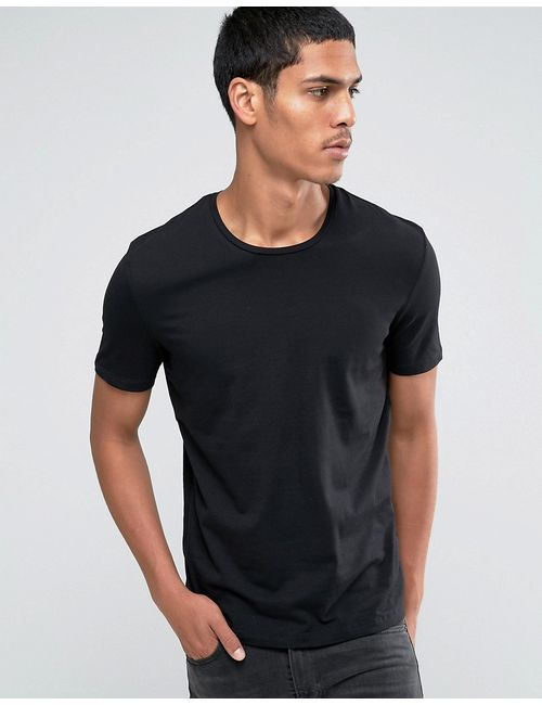 CELIO | Women's Black Crew Neck T-Shirt Noir
