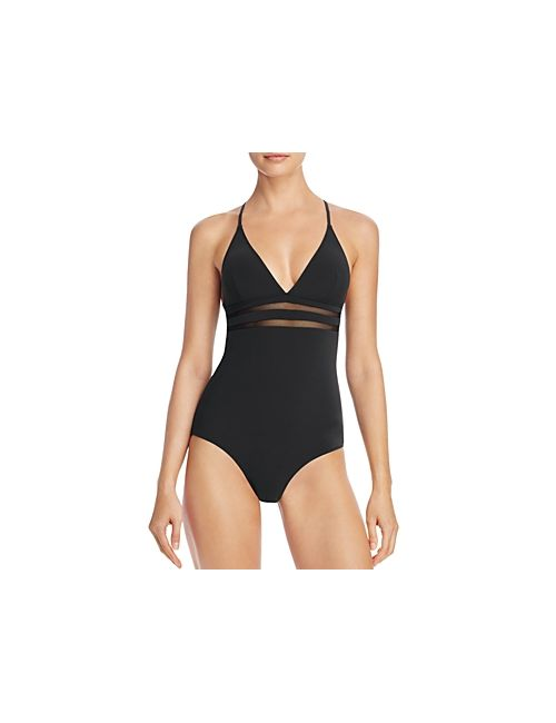 Stella McCartney | Black Mesh Inset Timeless One Piece Swimsuit