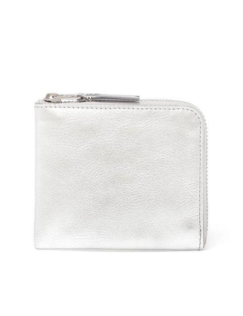 Comme Des Garçons | Men's Silver Leather Zip Case