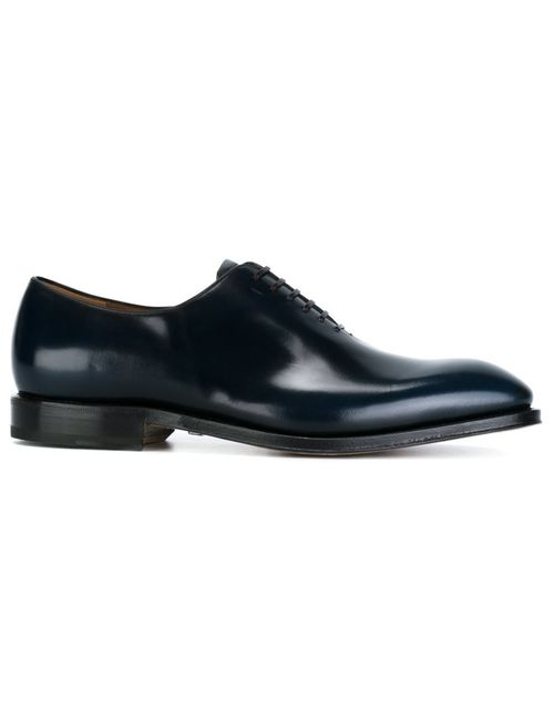 Salvatore Ferragamo | Men's Dark Blue Classic Oxford Shoes 7
