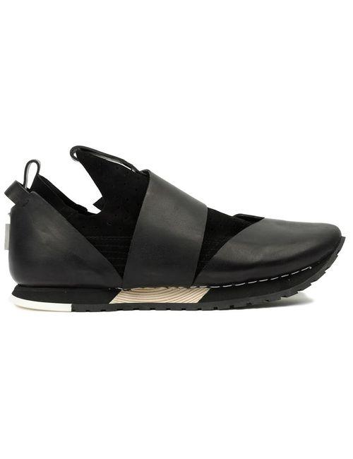 Artselab   Men's Black Velcro Fastening Sneakers
