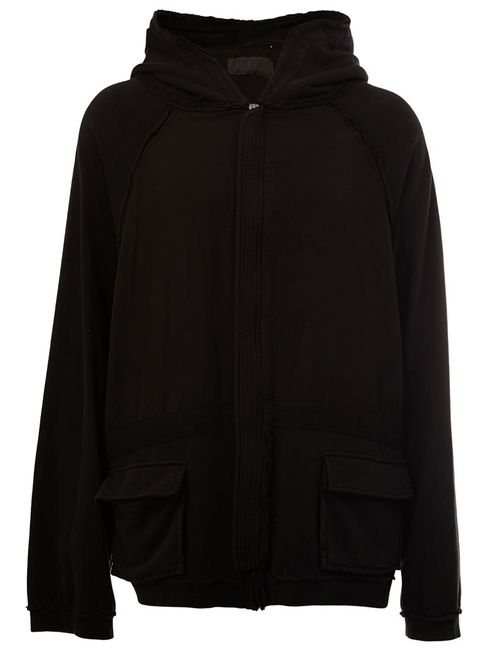 Haider Ackermann | Men's Black Raw Edge Hoodie