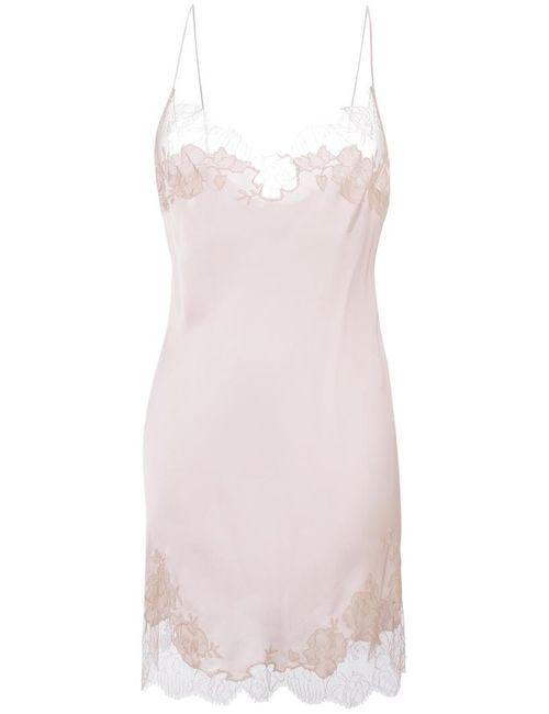 Carine Gilson | Women's Pink Classic Style Slip Small Silk