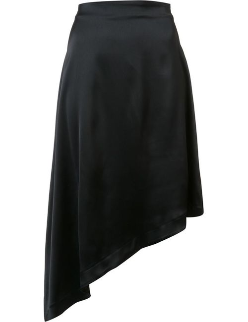 Harmony Paris | Women's Black Diagonal Cut Skirt Small Acetate/Viscose/Spandex/Elastane