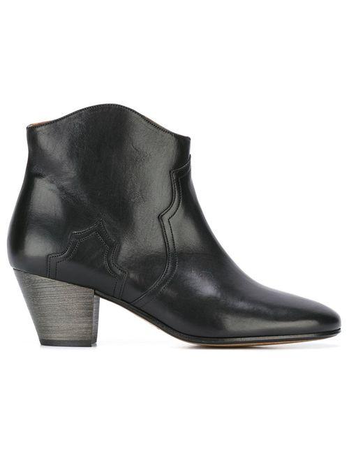 Isabel Marant   Women's Black Étoile Dicker Ankle Boots 36 Calf