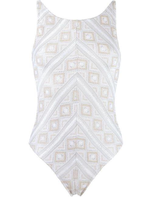 Cecilia Prado | Women's White Knit Swimsuit Pp Acrylic/Polyester/Viscose