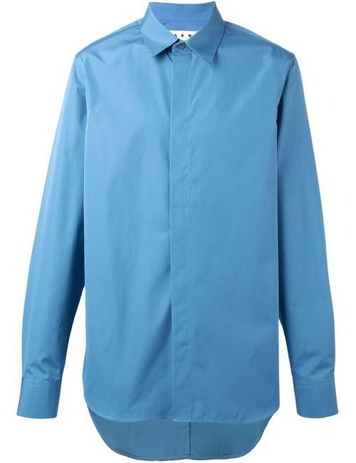 Marni | Men's Dark Blue Concealed Fastening Shirt